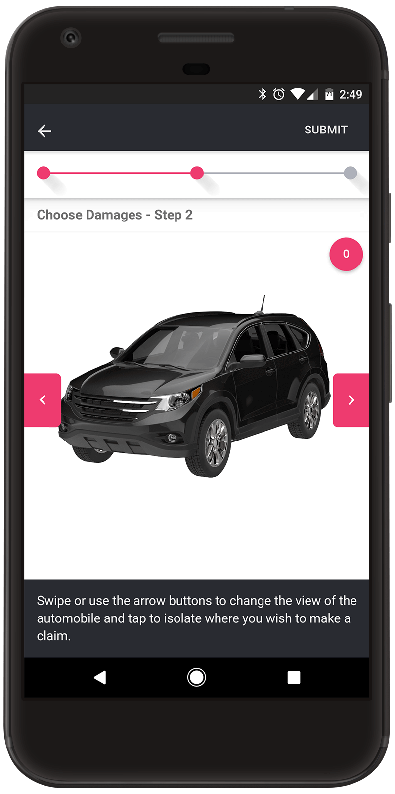 Android Damage Selection