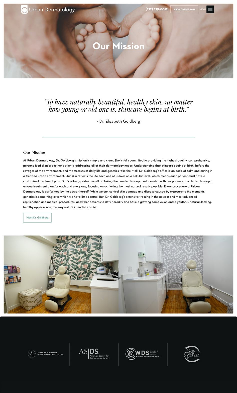 Urban Dermatology Website